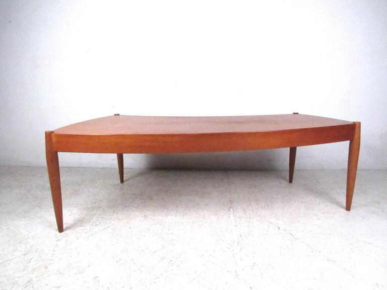Swedish Johannes Andersen Curved Edge Cocktail Table for Trensum For Sale