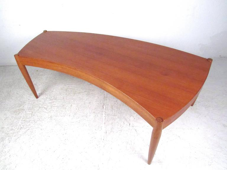 Mid-20th Century Johannes Andersen Curved Edge Cocktail Table for Trensum For Sale