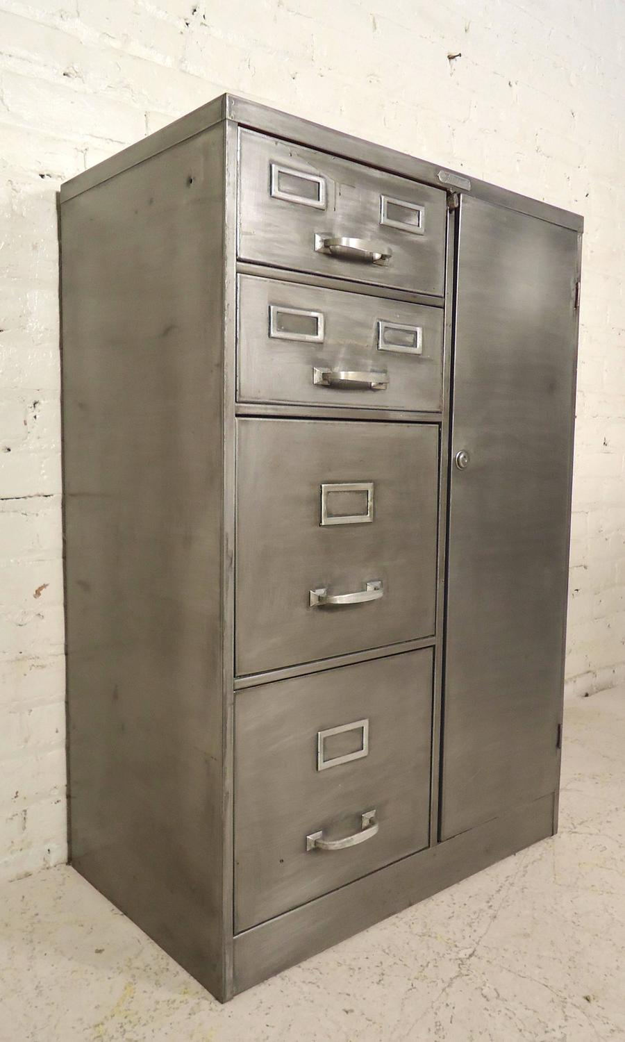 Industrial Metal File Cabinet At 1stdibs