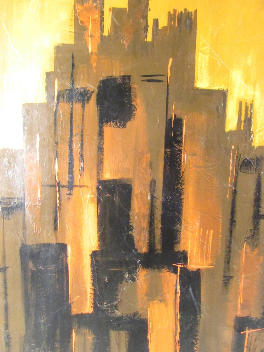 Mid Century Modern Cityscape Artwork For Sale At 1stdibs