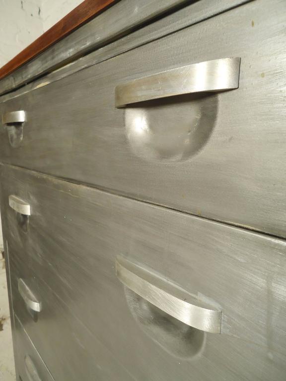 Mid Century Metal Dresser Refinished For Sale At 1stdibs