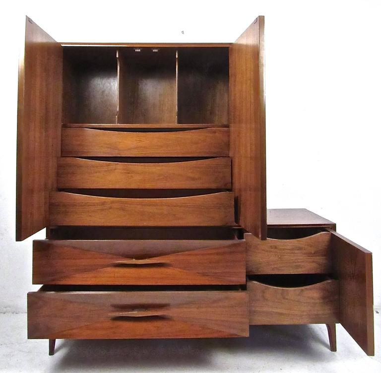 Unique Two Piece Sculpted Front Dresser For Sale At 1stdibs
