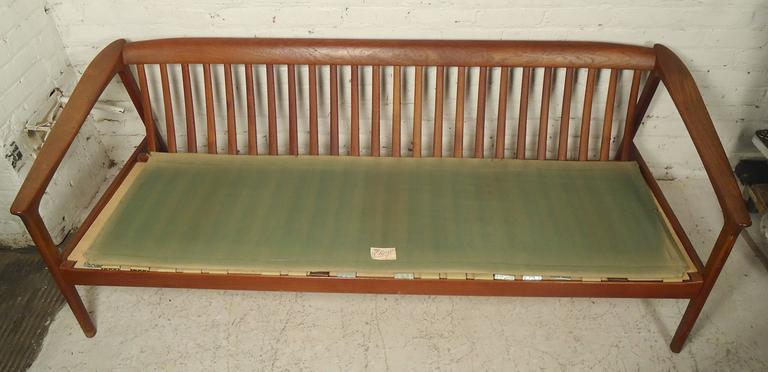 Folke Ohlsson Sofa with Teak Frame In Good Condition For Sale In Brooklyn, NY