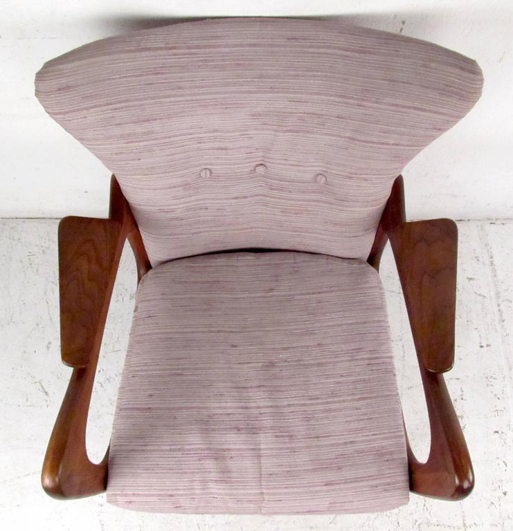 Vintage Wingback Lounge Chair After Adrian Pearsall For