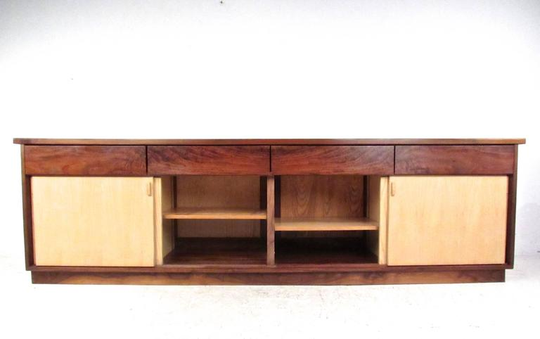 Mid-Century Modern Vintage Rosewood Office Credenza For Sale