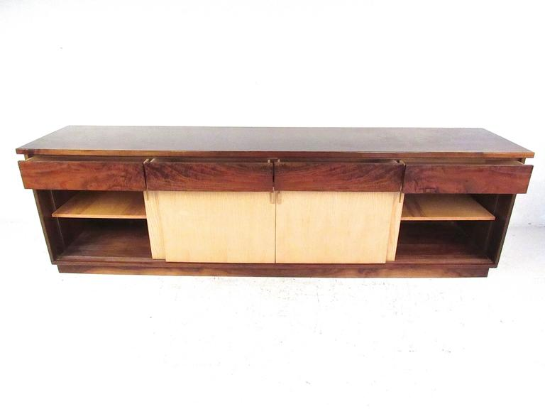 Vintage Rosewood Office Credenza In Good Condition For Sale In Brooklyn, NY