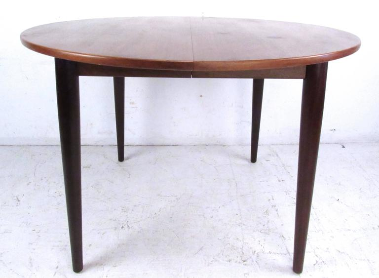 mid century modern scandinavian teak dining set with extension table