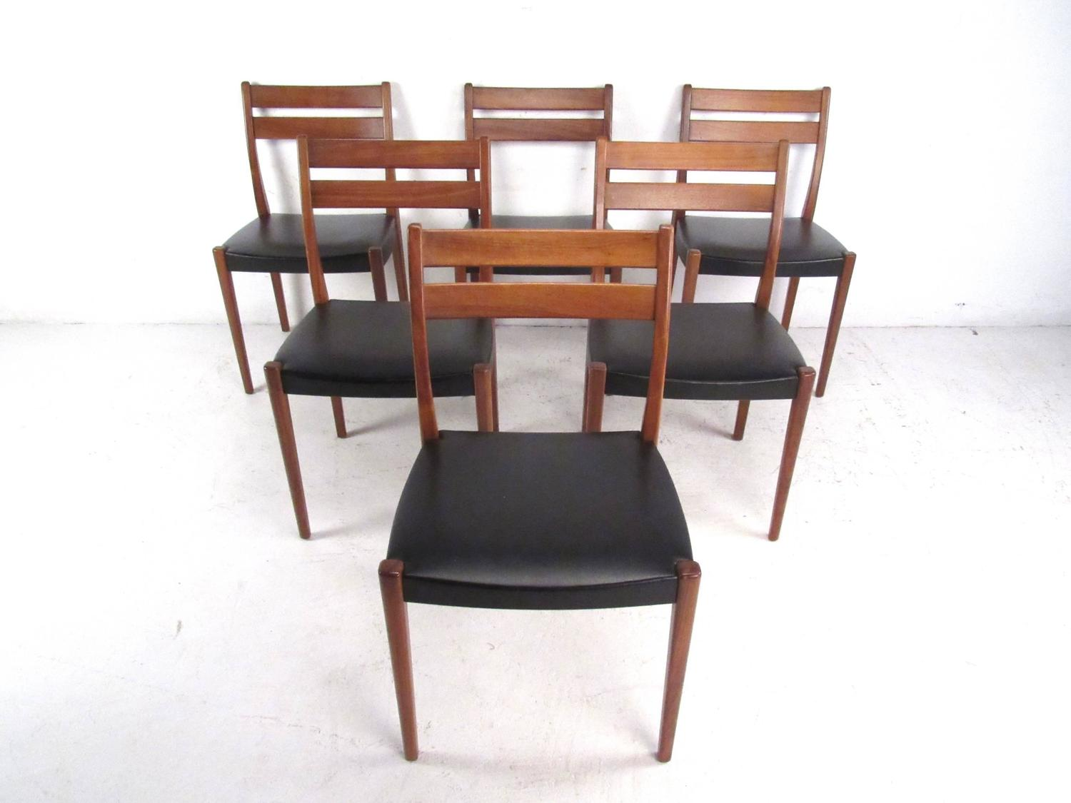 Mid century modern scandinavian teak dining set with extension table at 1stdibs - Extension tables dining room furniture ...