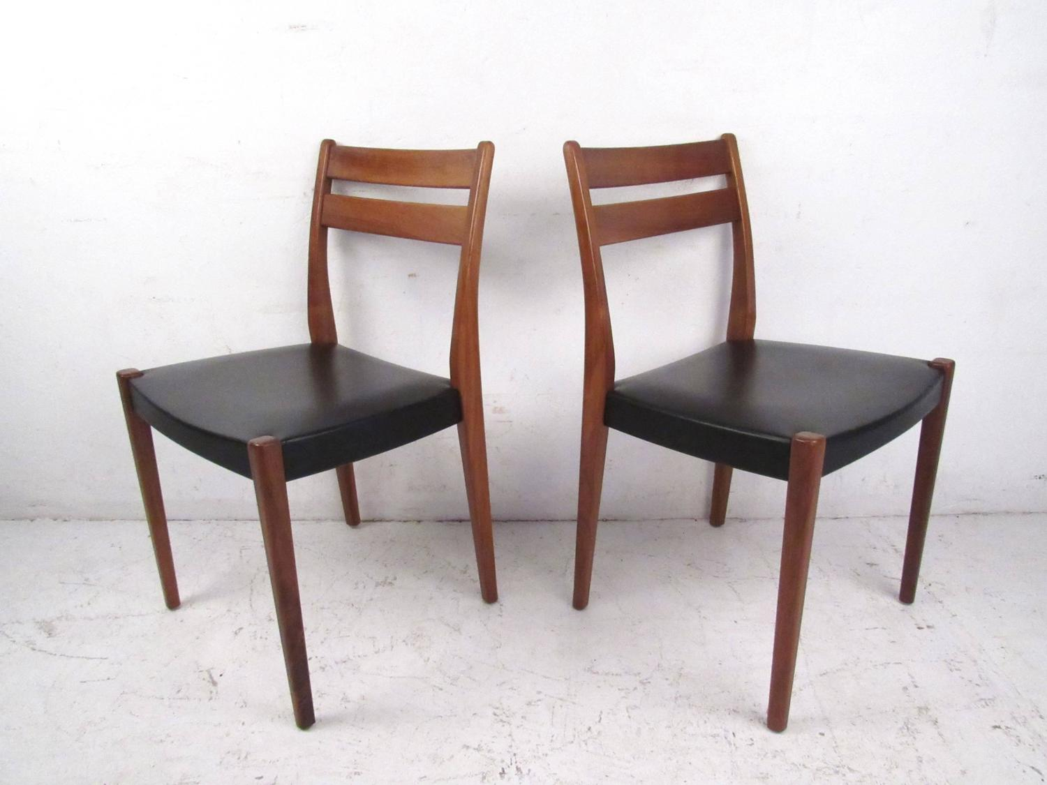 mid century modern scandinavian teak dining set with