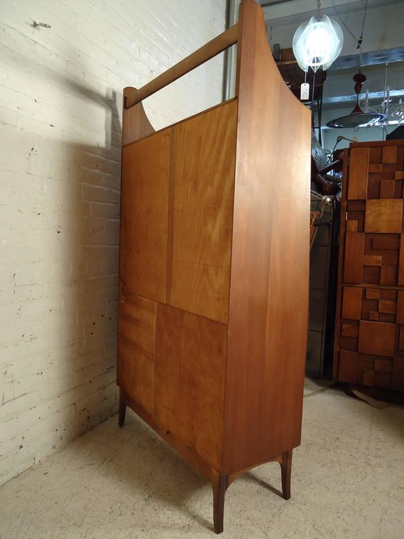 Rare Mid-Century Drop Front Cabinet and Desk For Sale 2