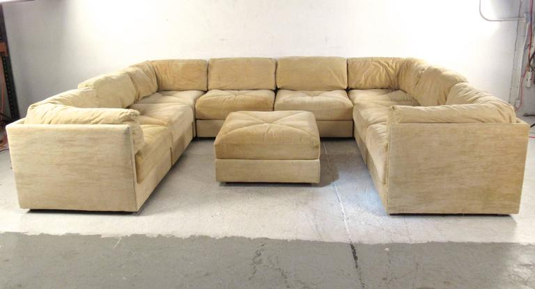 This Impressive Nine Piece Mid Century Sectional Sofa By Selig Furniture  Offers An Expansive