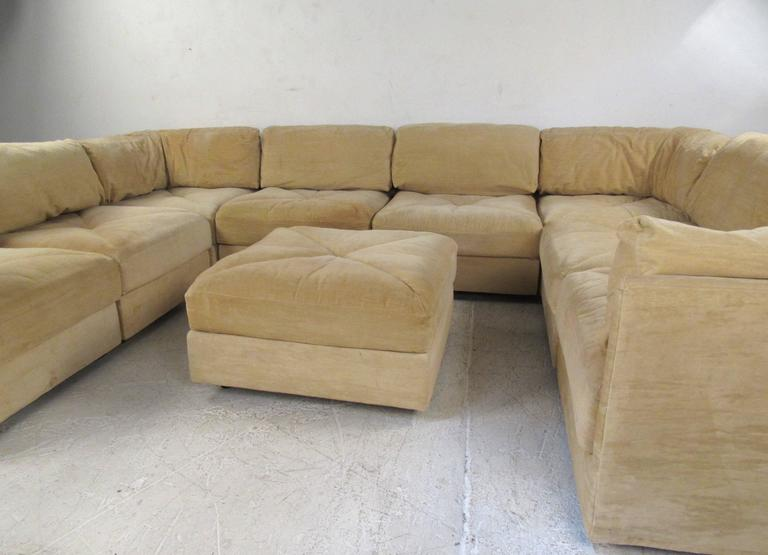 Late 20th Century Mid-Century Modern Sectional Sofa by Selig For Sale