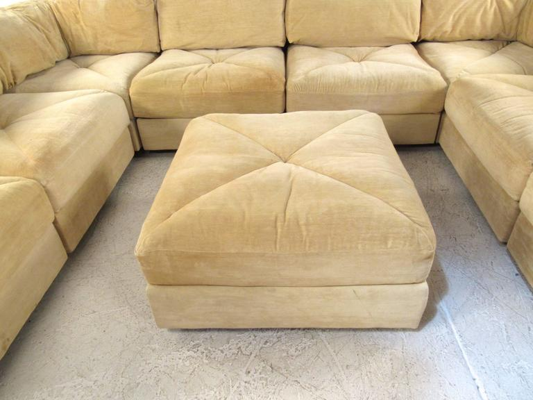 Mid-Century Modern Sectional Sofa by Selig For Sale 2