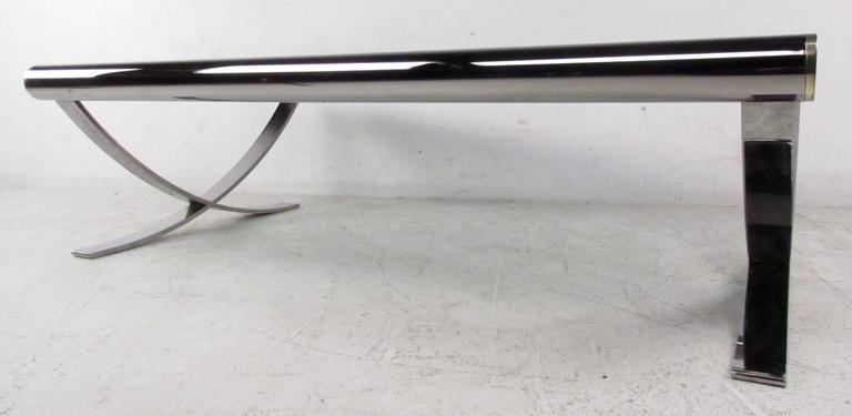 Mid-Century Modern Mid-Century Chrome Coffee Table For Sale