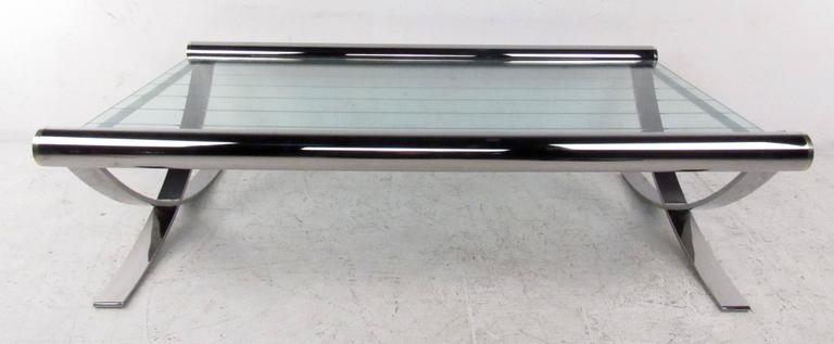 Mid-20th Century Mid-Century Chrome Coffee Table For Sale