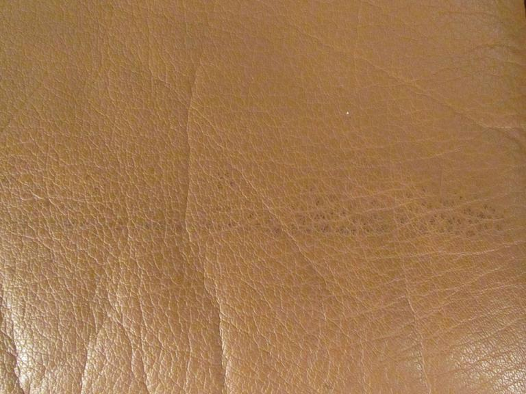 Vintage Danish Modern Leather Sofa For Sale 4