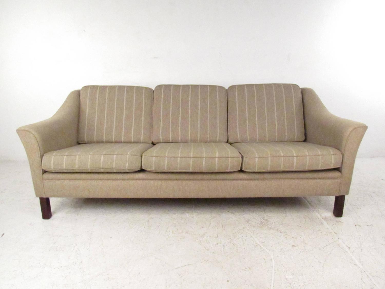 Upholstered Vintage Danish Modern Sofa Mid Century Living