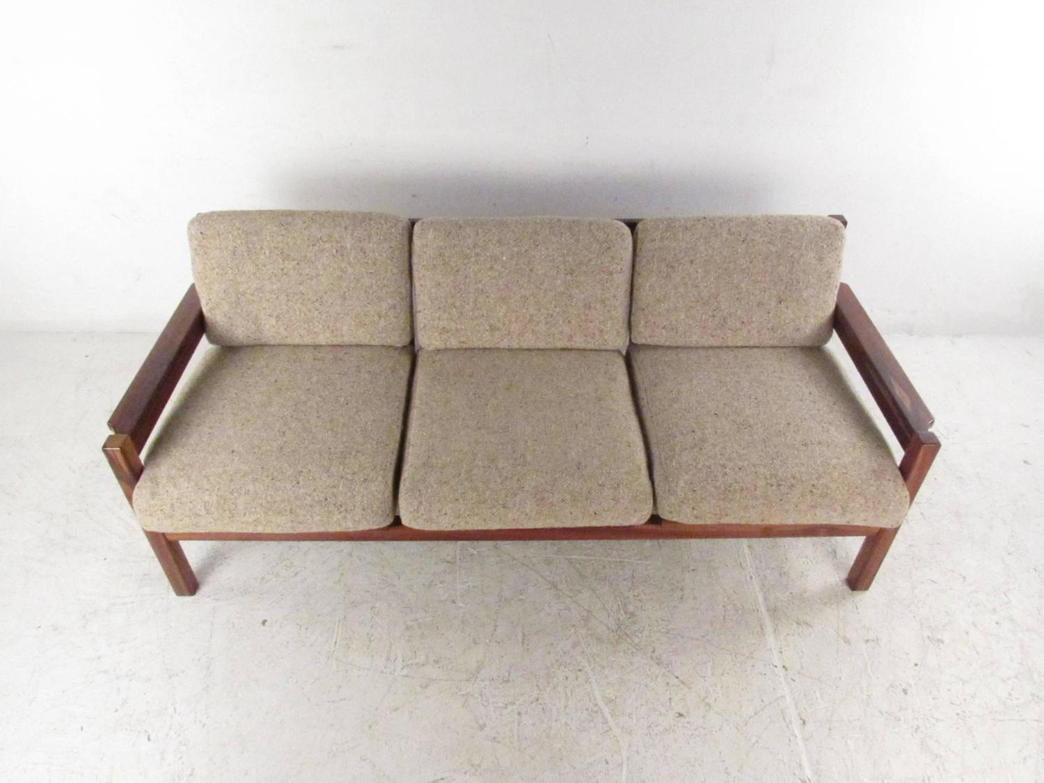 Mid Century Modern Rosewood Sofa Made in Israel For Sale