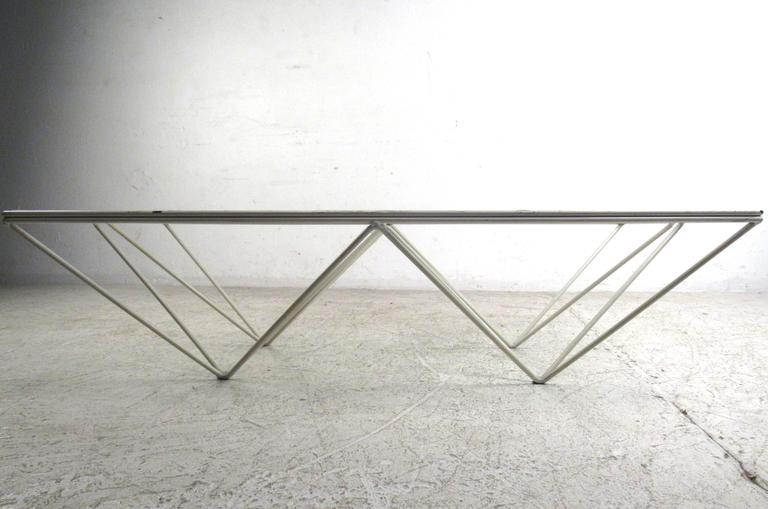 "Pyramid ""Alanda"" Coffee Table Attributed to Paolo Piva In Good Condition For Sale In Brooklyn, NY"