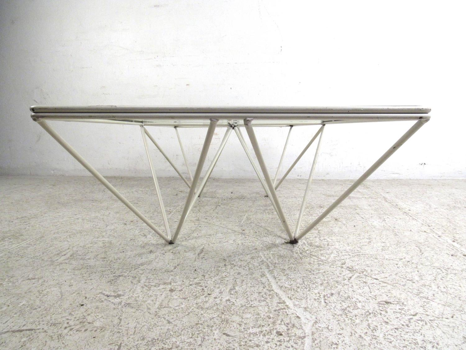 Modern Geometric Pyramid Alanda Coffee Table Attributed To Paolo Piva For Sale At 1stdibs