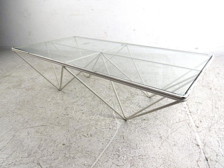 "Mid-Century Modern Pyramid ""Alanda"" Coffee Table Attributed to Paolo Piva For Sale"