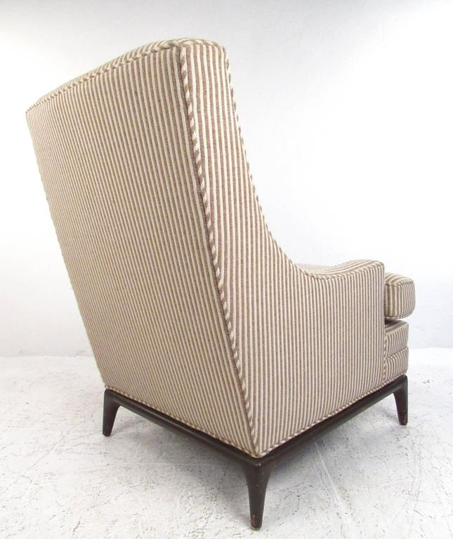 Mid-Century Modern Lounge Chair with Ottoman after Robsjohn-Gibbings In Good Condition For Sale In Brooklyn, NY