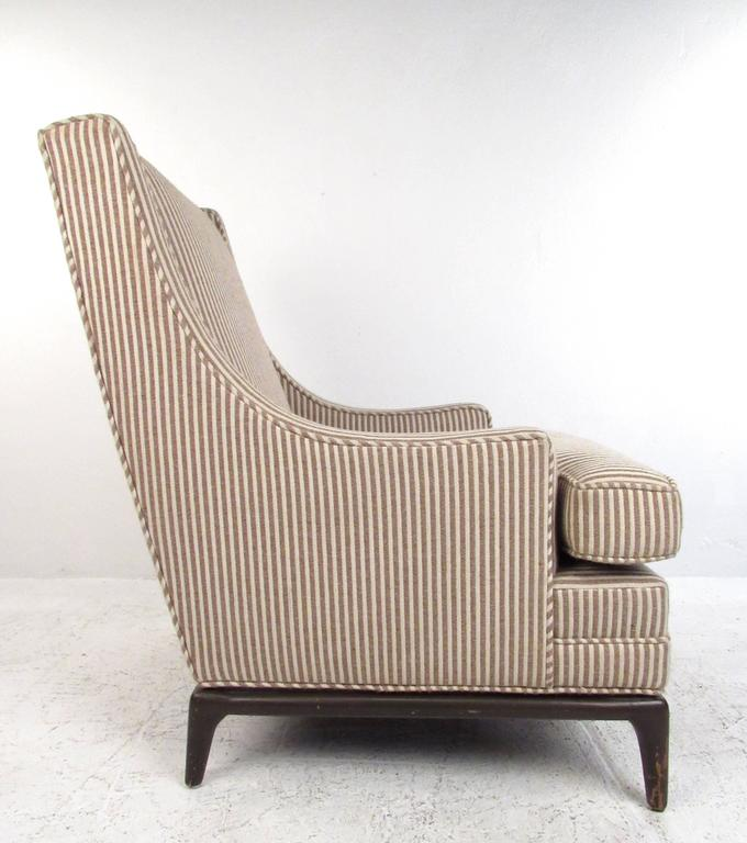 Mid-20th Century Mid-Century Modern Lounge Chair with Ottoman after Robsjohn-Gibbings For Sale