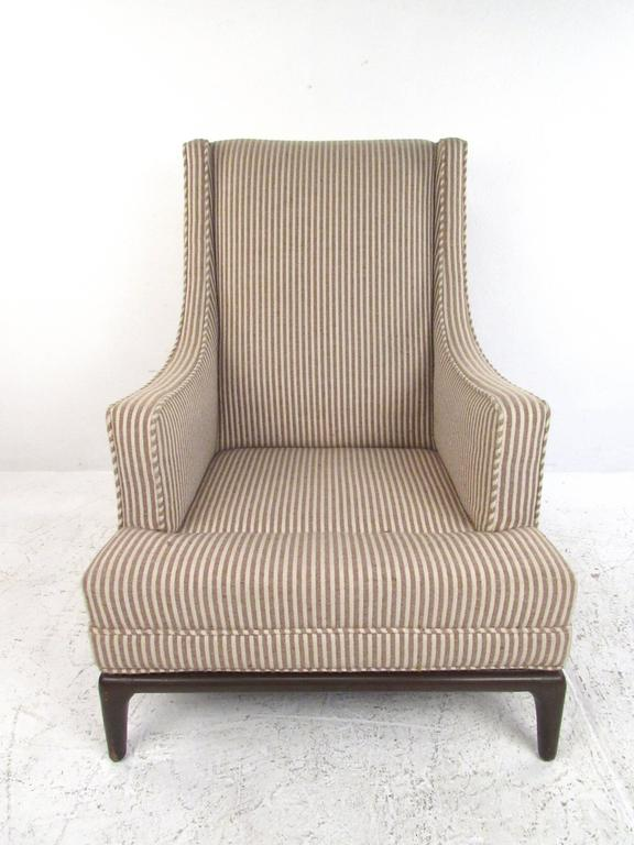 Mid-Century Modern Lounge Chair with Ottoman after Robsjohn-Gibbings For Sale 1