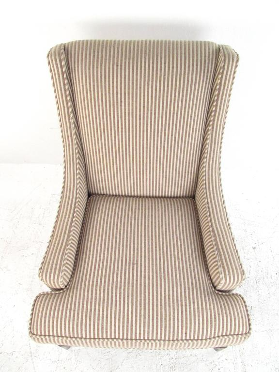 American Mid-Century Modern Lounge Chair with Ottoman after Robsjohn-Gibbings For Sale