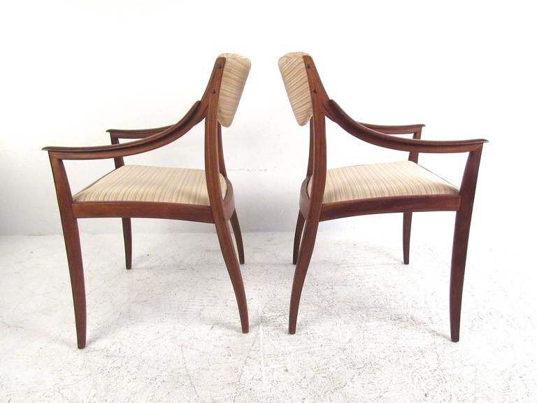 Mid century american walnut dining chairs by drexel at 1stdibs for G plan heritage dining room furniture