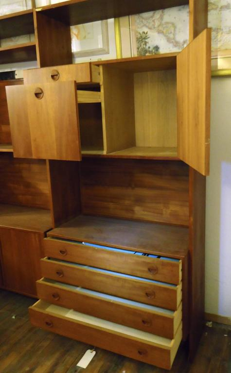 Mid-20th Century Danish Modern Standing Wall Unit For Sale