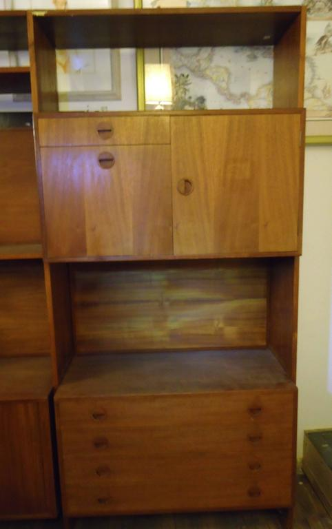 Mid-Century Modern Danish Modern Standing Wall Unit For Sale