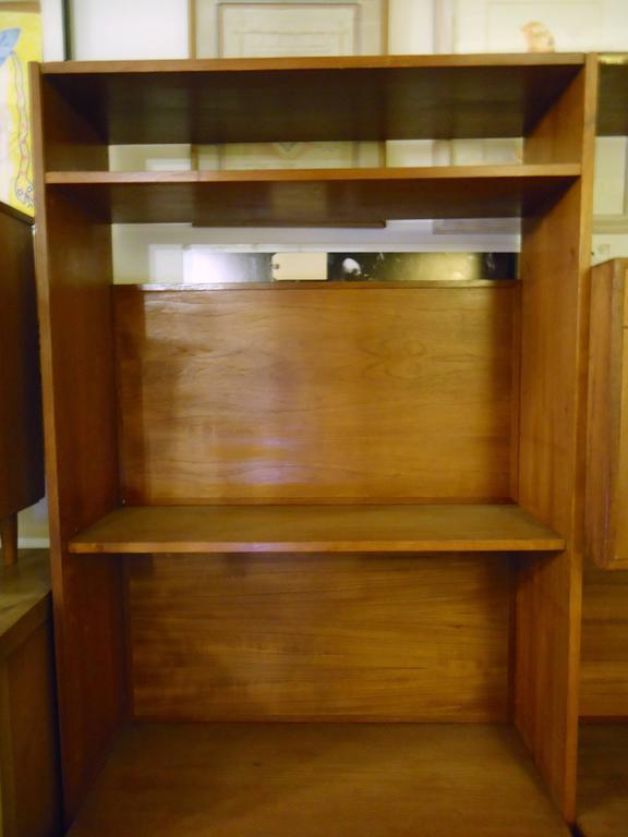 Danish Modern Standing Wall Unit In Good Condition For Sale In Brooklyn, NY