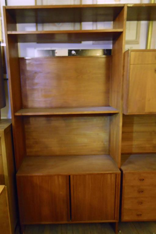 Mid-Century Cado style modular wall unit with ample storage. Great for home or office, with shelves, drawers and cabinet space, including a 15