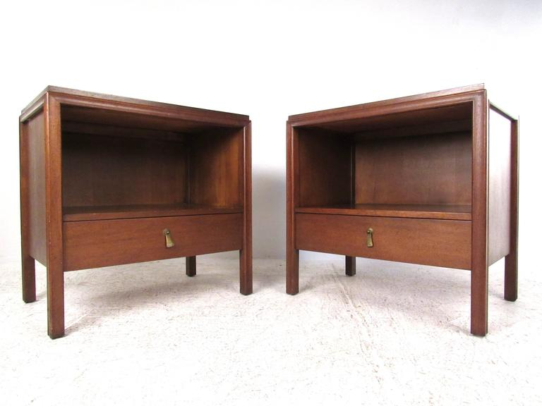 Pair of mid century modern john stuart nightstands for for Modern nightstands for sale