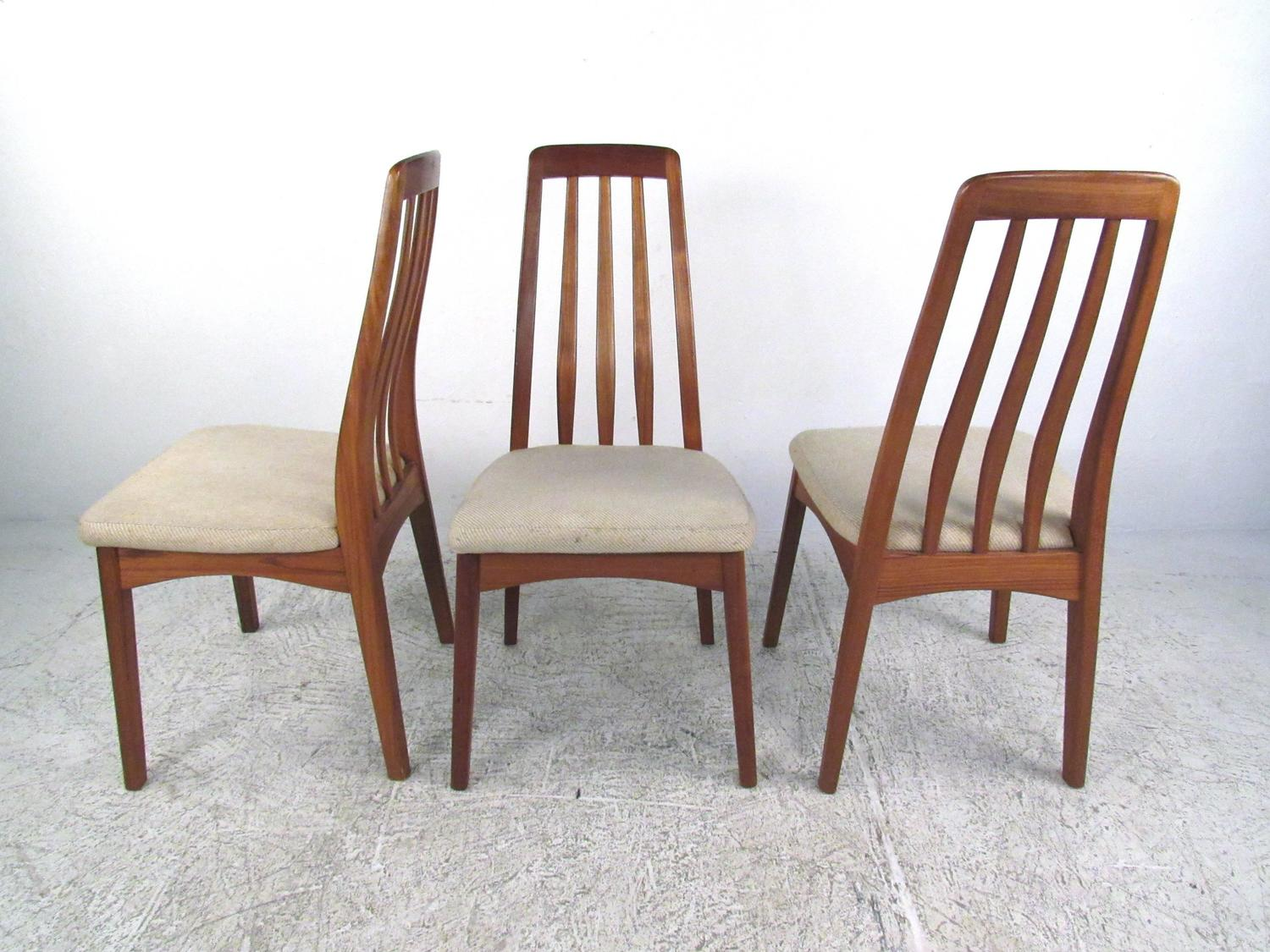 mid century modern danish teak dining set with rare