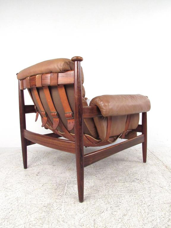 Scandinavian Modern Rosewood and Leather Amiral Lounge Chair by Ire Mobler 3
