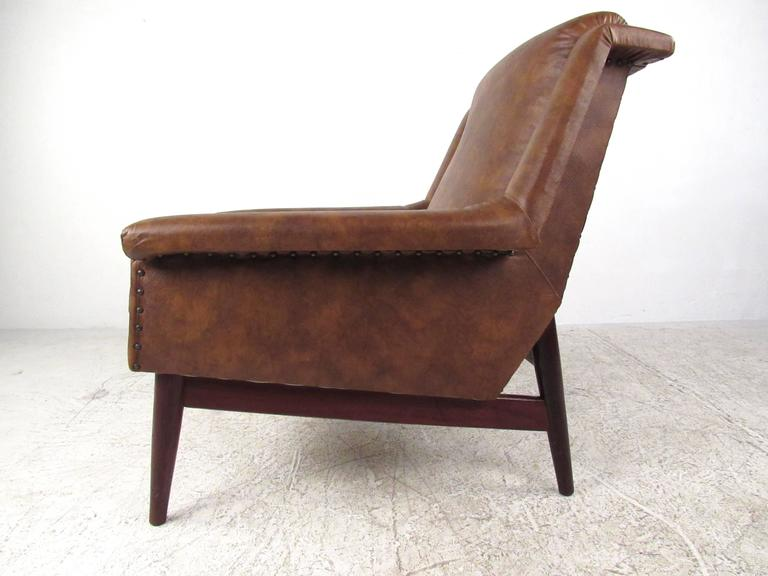 Upholstery Pair Danish Modern Lounge Chairs For Sale