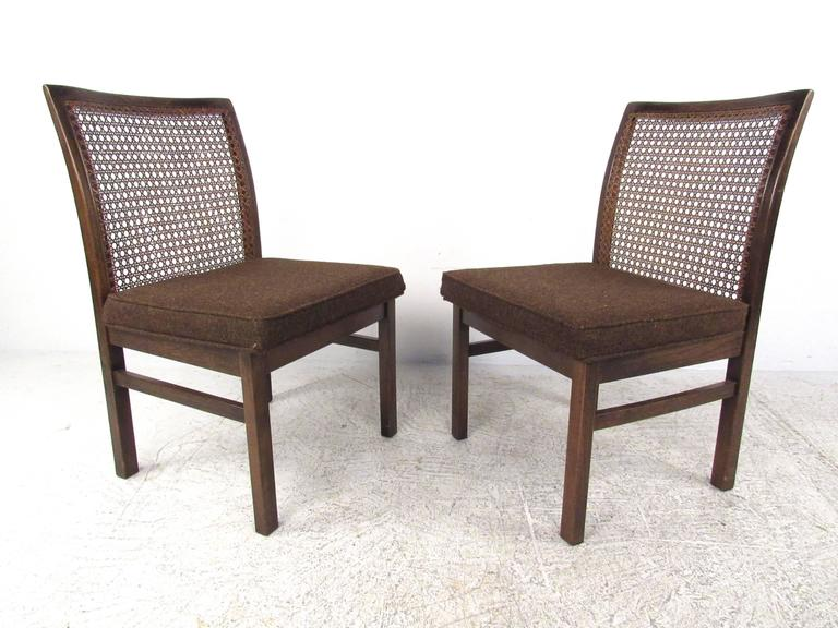 mid century modern cane back dining chairs by lane for sale at 1stdibs