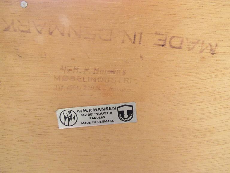Mid-Century Modern Danish Teak Sideboard by H.P. Hansen 10