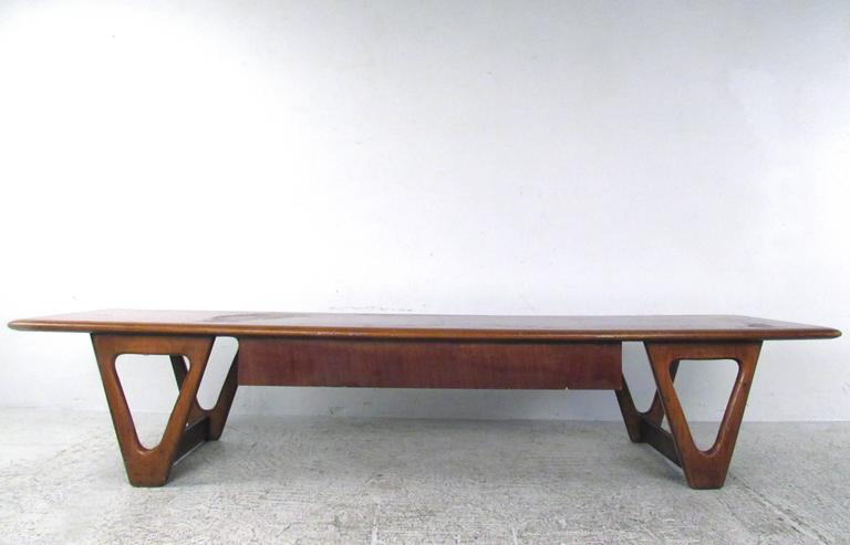 American Mid-Century Lane Coffee Table by Warren Church For Sale