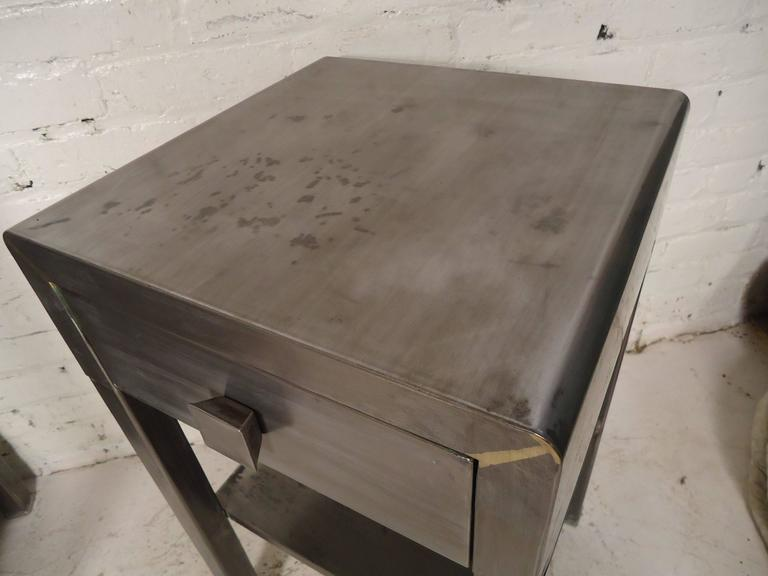 simmons modern furniture metal side table 2. side table by simmons with industrial style finish 3 modern furniture metal 2