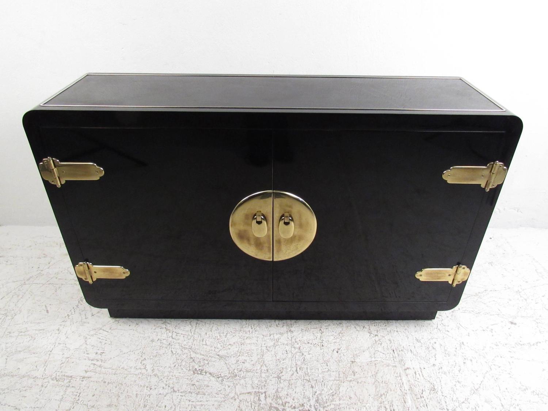 case Asian black lacquer
