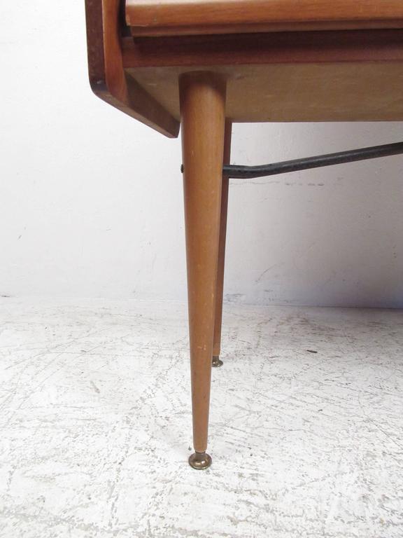 Tall Mid-Century Scandinavian Modern Tambour Cabinet For Sale 2