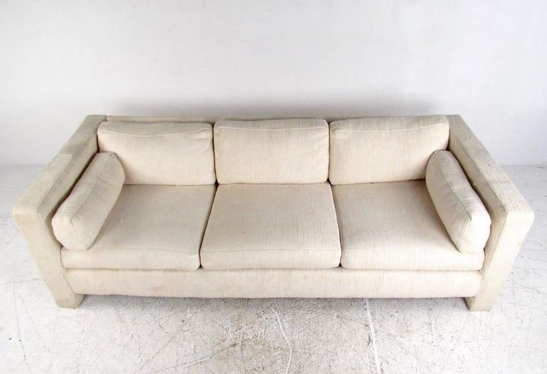 American Mid-Century Modern Three-Seat Sofa by Milo Baughman for Thayer Coggin For Sale