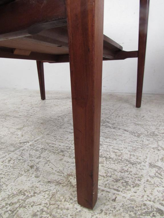 Pair of Mid-Century Modern Marble-Top End Tables For Sale 1