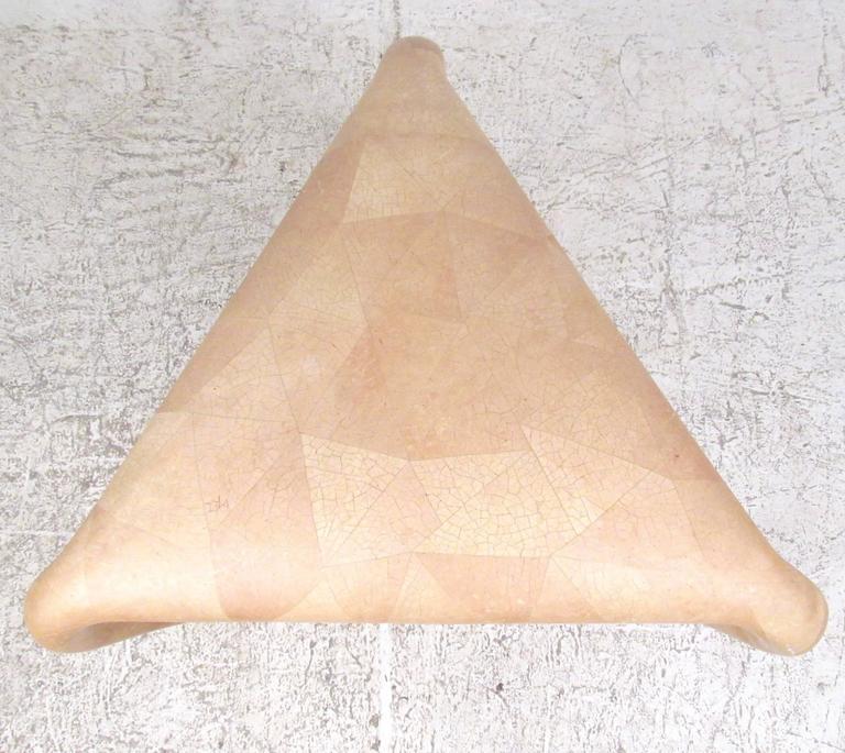 British Organic Modern R & Y Augousti Tessellated Bone End Table For Sale