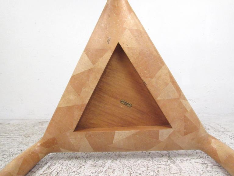 Organic Modern R & Y Augousti Tessellated Bone End Table For Sale 2