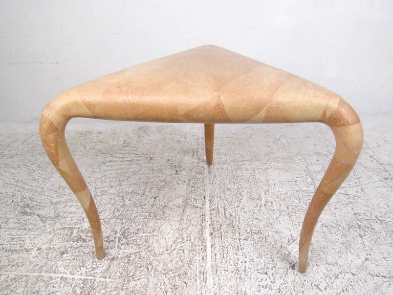 Organic Modern R & Y Augousti Tessellated Bone End Table For Sale 1