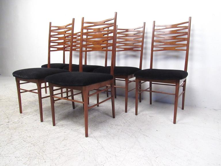 set of mid century danish modern teak dining chairs after johannes